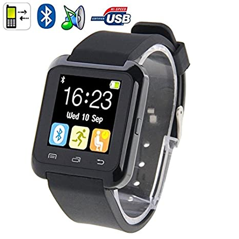 YONIS Reloj Inteligente Bluetooth Android Pantalla LCD Kit Manos Libres Negro: Amazon.es: Electrónica