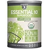 Designer Protein Essential 10 Super Greens Organic Superfood, 12 Ounce