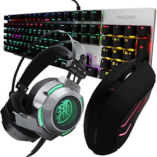 Kit Gamer Hz41 Teclado Mouse E Headset Gamer Luz Led