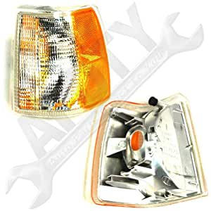 APDTY 2741939 Side Marker Turn Signal Lamp Fits Driver Side Front Left Volvo 850 With Dual Headlight (Replaces 6817769-0, 68177690)