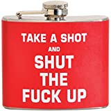 Take A Shot & STFU 5 oz. Stainless Steel Flask