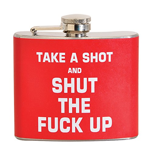 Take A Shot & STFU 5 oz. Stainless Steel (Funny Hip Flask)