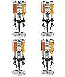 Oggi Professional 3-Bottle Revolving Liquor Dispenser (Pack of 4)