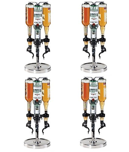 Oggi Professional 3-Bottle Revolving Liquor Dispenser (Pack of 4)