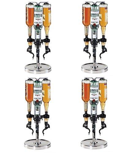 Oggi Professional 3-Bottle Revolving Liquor Dispenser (Pack of 4) by Oggi