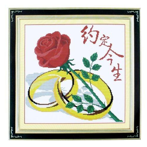 Flores Estampado de Punto de Cruz kit contado Para señora Woman ()