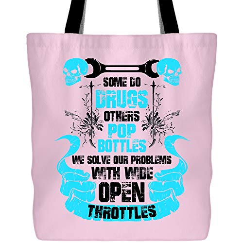 (Became A Mechanic Bags with Long & Durable Handles, Some Do Drugs Others Pop Bottles Craft canvas bag (Tote Bags - Light)