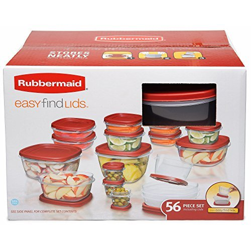 Rubbermaid Easy find Lids Storage Containers Assortment 56 count from Rubbermaid