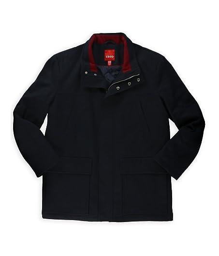 Amazon.com: Izod Mens Wool-Blend Pea Coat: Clothing