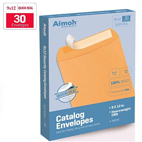 Pull Fastrip (9 X 12 Self-Seal Brown Kraft Catalog Envelopes - 28lb - 30 Count (38030))
