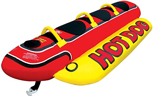 AIRHEAD HD-3 Hot Dog Triple Rider Towable Inflatable 3 Person Boat Lake Tube ()