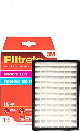 3M Filtrete Kenmore EF-1 / Panasonic MC-V199H HEPA Package Vacuum Filter (Amp Filter Vacuum Hepa 12)