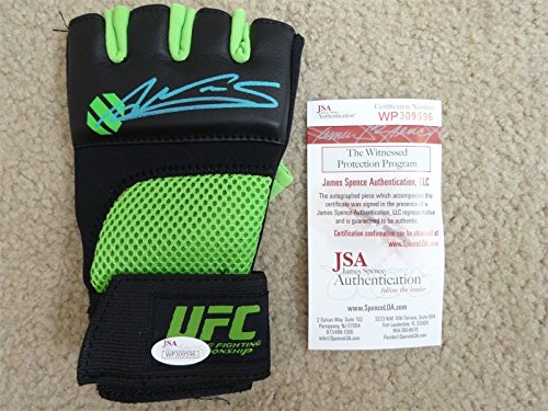 Autographed Ufc Glove - AMANDA NUNES SIGNED AUTO GREEN AND BLACK UFC FIGHT GLOVE JSA AUTOGRAPHED