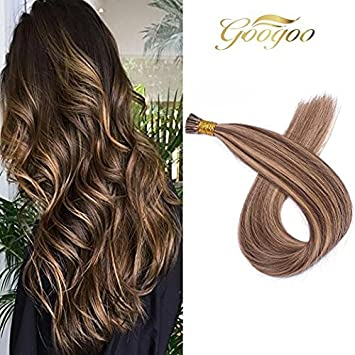 Amazon Com Googoo 18 Inches I Tip Hair Extensions Ombre