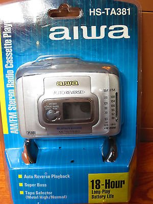Aiwa AM/FM Stereo Radio Cassette Player HS-TA381 (Walkman)