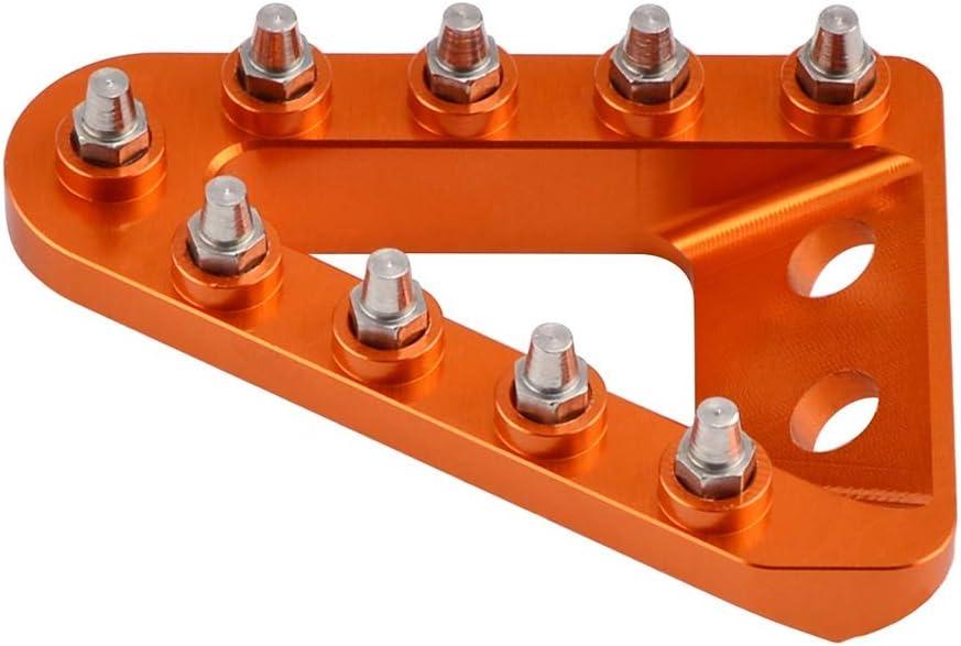 Freno Trasero Pedal Paso Tip Placa for KTM SX SXF EXC EXCF XC XCF XCW XCFW for Husqvarna 125 150 250 350 450 500 2017 2018 2019 Color : Orange NO LOGO HWW-Brake