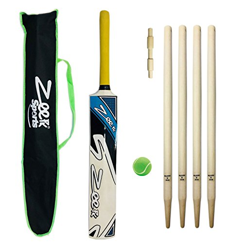 COMPLETE KIDS CRICKET KIT KASHMIR WILLOW BAT + WICKETS BALL FOR 9-14 YEAR CHILD Summer Sports by Zeepk Sports