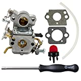Dalom 530035590 Carburetor w Carb Adjustment Tool for Poulan Pro PP3416 PP3516 PP3816 PP4018 P3314 P3416 P3816 P3818 P4018 PPB3416 PPB4018 PPB4218 S1970 Gas Chainsaw