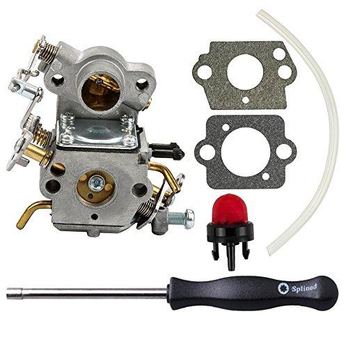 (Dalom 530035590 Carburetor w Carb Adjustment Tool for Poulan Pro PP3416 PP3516 PP3816 PP4018 P3314 P3416 P3816 P3818 P4018 PPB3416 PPB4018 PPB4218 S1970 Gas Chainsaw)