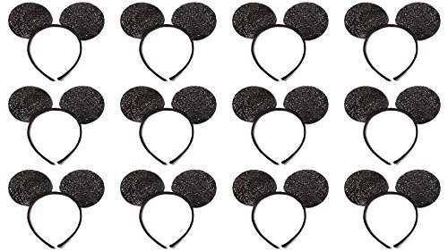 Disney Themed Costumes Male (Mickey Mouse Ears Sparkle (Lot of 12))