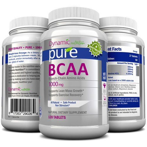 BCAA Аминокислоты - помощь в потере веса, построения мышечной массы, а мышцы Recovery содержит L-лейцин, L-изолейцин, и L-валин, 1000 мг, 120 таблеток. Работы Excellant с Pure White фасоли экстракта. Изготовлено в США на основе GMP органически сертифициро
