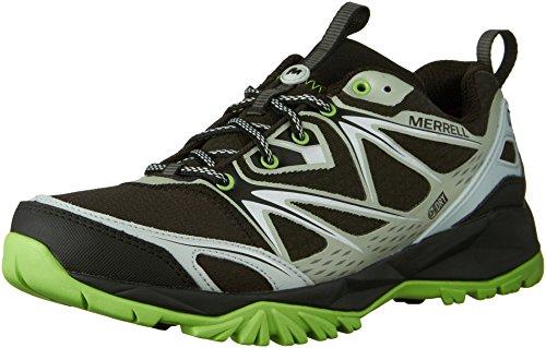 Merrell Men's Capra Bolt Waterproof Hiking Shoe, Black/Silver, 8.5 M US