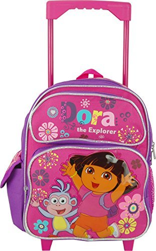 - Dora the Explorer 12 Inch Toddler Rolling Backpack