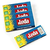 5 booklets - aLeda BLUE size clear Cellulose rolling paper from Brazil - 250 papers