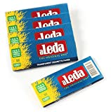 aLeda 5 booklets Blue Size Clear Cellulose Rolling Paper from Brazil - 150 Papers