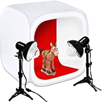 Julius Studio 30 Cube Photo Shooting Tent with Color Backdrops, Table Top Photo Lighting Kit, Light Head Lamp, Spiral Photo Bulb, Small Light Stand Tripod, Photo Studio, JSAG266