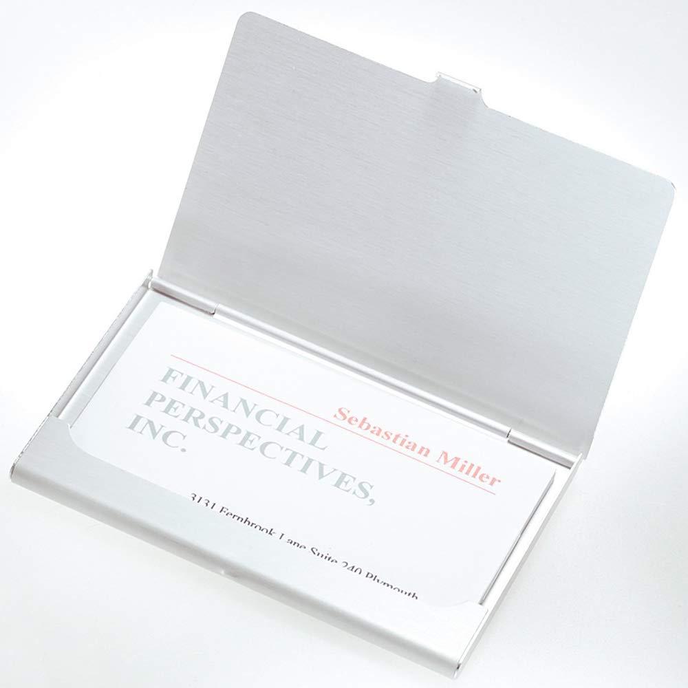 9,3 x 6 x 0,5 cm Organizzatore Della Carta di Credito Cassa di Carta per Biglietto da Visita 3 Pezzi Metallo Casi Biglietti da Visita Porta Carte di Credito Carta didentit/à