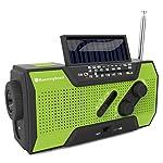 Solar Crank NOAA Weather Radio with Flashlight USB Power Bank