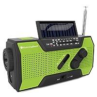 RunningSnail Solar Weathered NOAA Radio meteorológica para emergencias con AM /FM, linterna, lámpara de lectura y 2000mAh Power Bank
