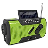 RunningSnail Solar Crank NOAA Weather Radio For Emergency with AM FM, Flashlight, Reading Lamp And 2000mAh Power Bank