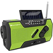 RunningSnail Solar Crank NOAA Weather Radio For Emergency with AM/FM, Flashlight