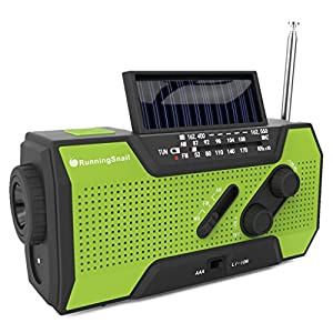 51jX6e1sg6L. SS300  - RunningSnail Solar Crank NOAA Weather Radio For Emergency with AM/FM, Flashlight, Reading Lamp And 2000mAh Power Bank