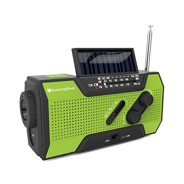 51jX6e1sg6L. SS600  - RunningSnail Solar Crank NOAA Weather Radio For Emergency with AM/FM, Flashlight, Reading Lamp And 2000mAh Power Bank