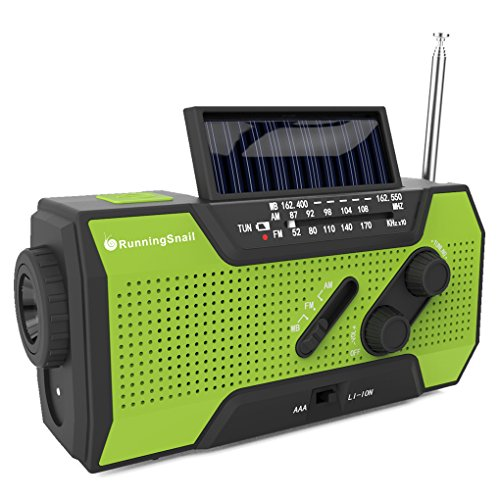 RunningSnail Solar Crank NOAA Weather Radio for Emergency...