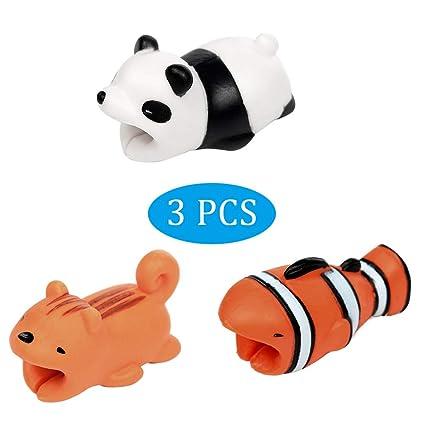 3 Paquetes] Protector de Cable USB, Protector Cargador Cubre ...