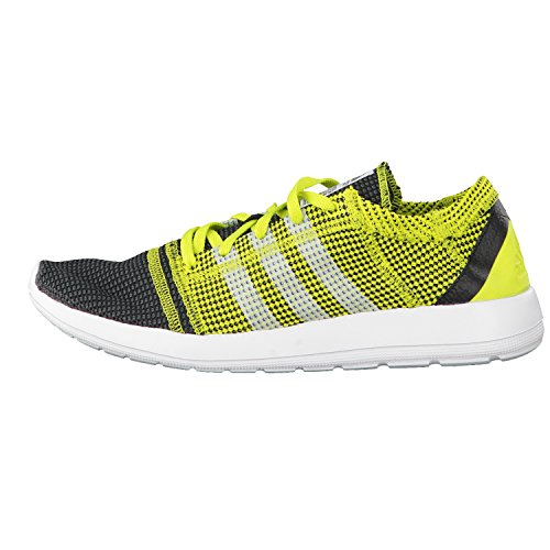 adidas Herren Laufschuhe Element Refine Tricot M Core Black/Ftwr White/Semi Solar Yellow 40