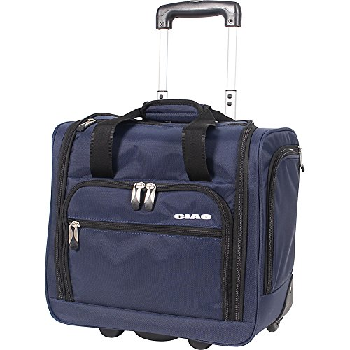 Ciao Luggage 15 Carry On Suitcase Wheeled Airplane Weekender Under the Seat Bag