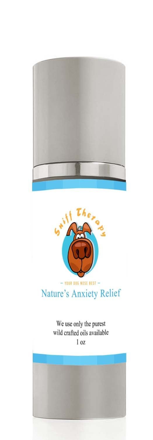 Calming Aromatherapy For Dogs – Sniff Therapy, Uses Only All Natural Essential Oils – Topical Use Gives Instant Relaxing & Anxiety Relief For Your Pup – You Don't Have To Get Your Dog To Eat It! Strong To Your Dogs Nose, But Not To Yours! Buy Now!
