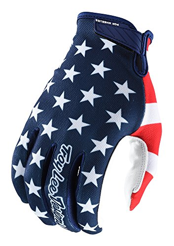 Troy Lee Designs Air Americana Men's Off-Road Mountain Bike Gloves - Navy/Red / Medium