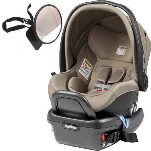 Peg Perego – Primo Viaggio 4-35 Car Seat w Back Seat Mirror – Cream