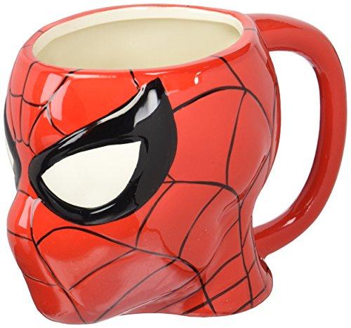 Zak Designs MRTI-8511 Marvel Comics Spiderman Ceramic sculpted Mug, Multicolor