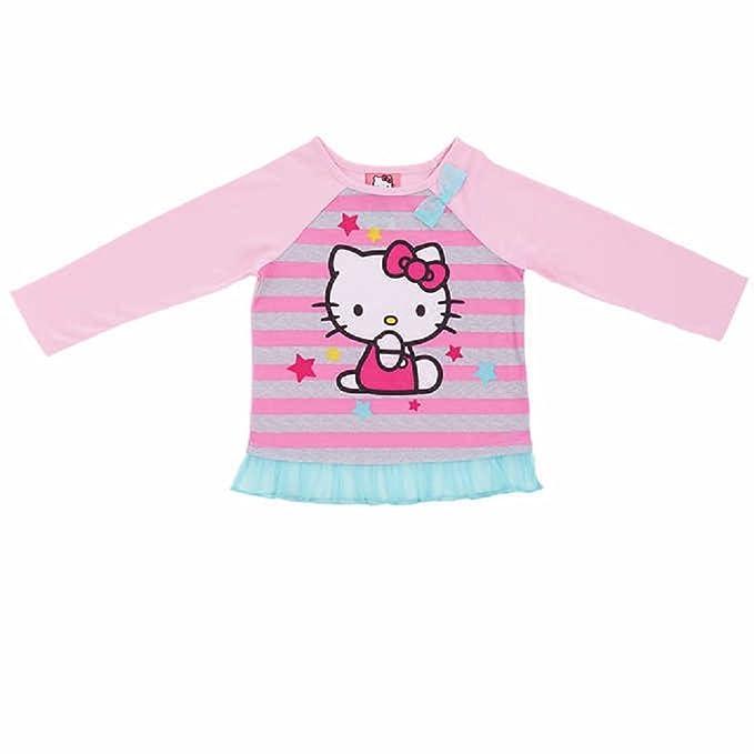 2f678b631 Komar Kids Girl's 2 Piece Hello Kitty PJ Set Pink Stripe US Size 4T ...