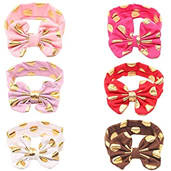 Menglihua Baby Girls Toddler Child Boutique Cute Hair Accessories Handband Headband Gilding Knot 6PCS