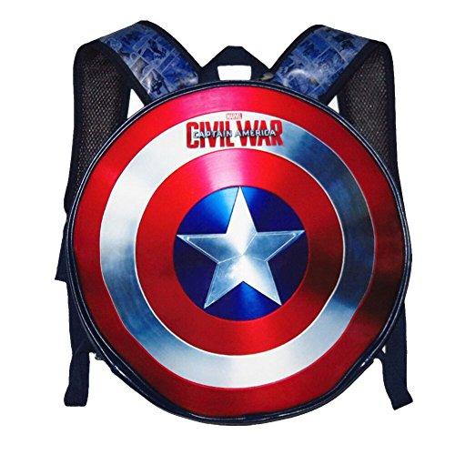 YOURNELO Boys Shield Round Backpack Bookbag Rucksack (Small)]()