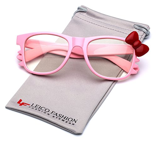 Hello Kitty Bow Women's Fashion Clear Lens Glasses with Bow and -