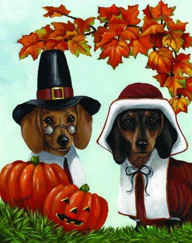 Dachshund Ye Thankful Pilgrims- Thanksgiving wall art